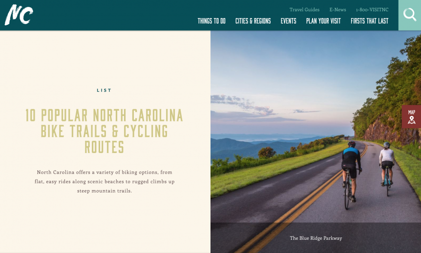 Top BIcycle Paths and Trails in North Carolina