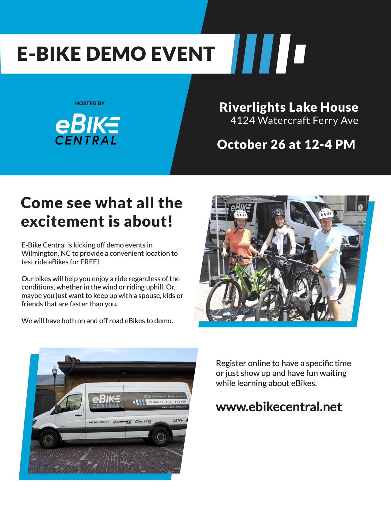 eBike Central Demo Day Event in Wilmington NC