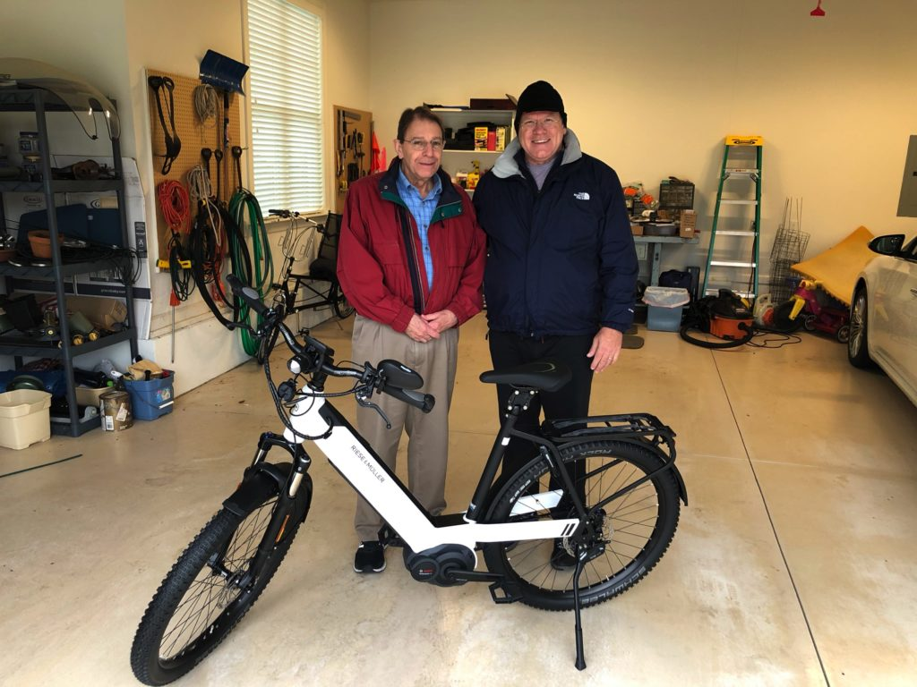Jack receiving his Riese & Muller Nevo GX in Rolesville NC