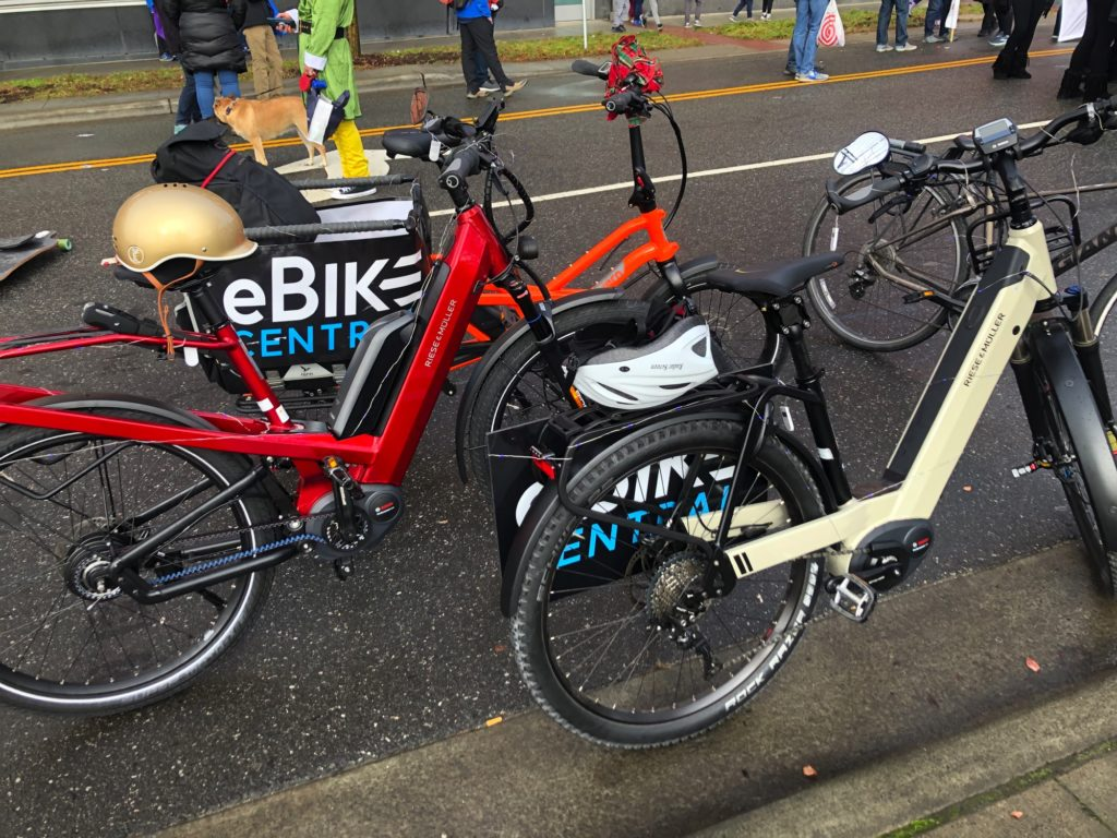 eBike Central in the Durham NC Holiday Parade