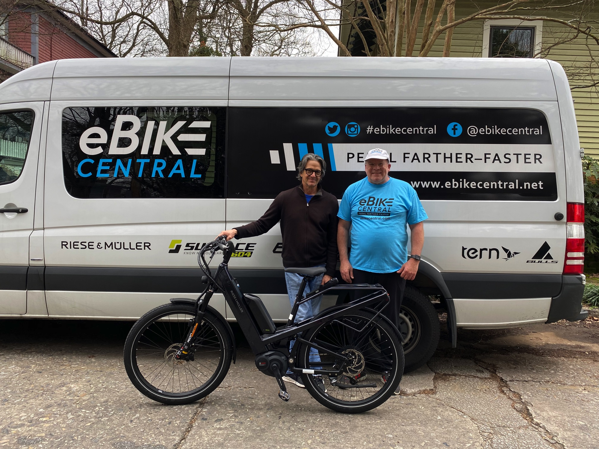 eBike Central in Atlanta for Riese & Muller Homage GT Touring HS eBike delivery