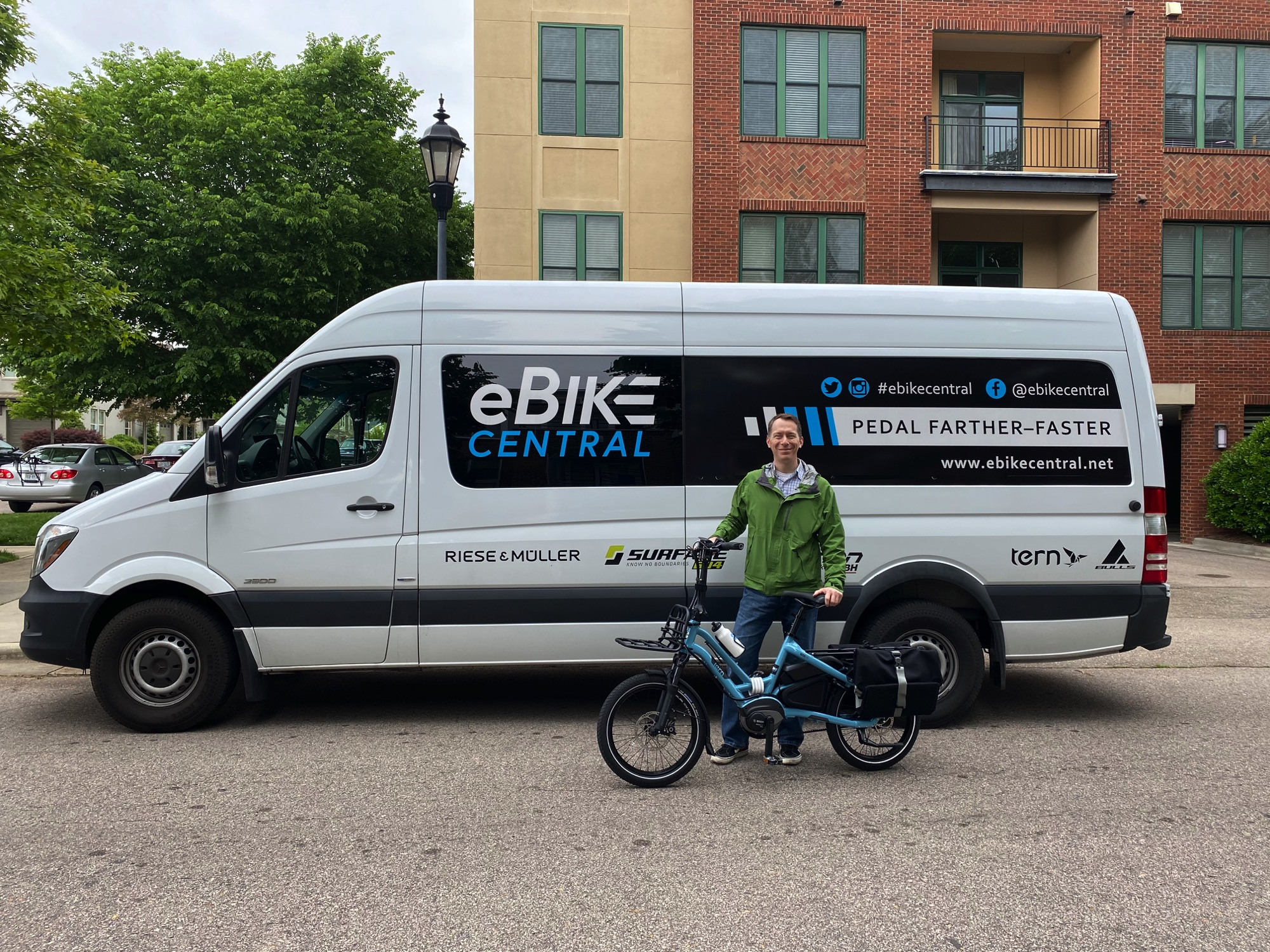 eBike Central in Durham NC for a TERN Delivery