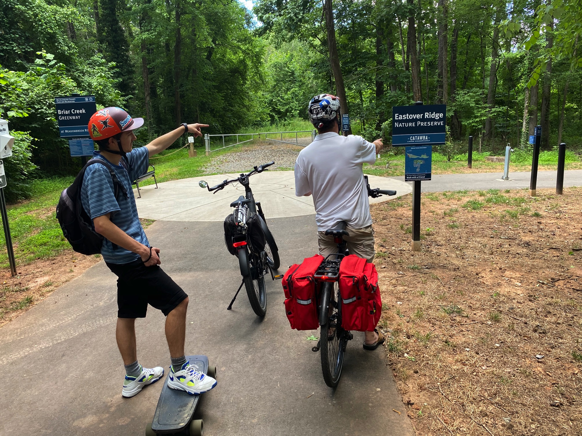 Entering Briar Creek Greenway, Charlotte NC