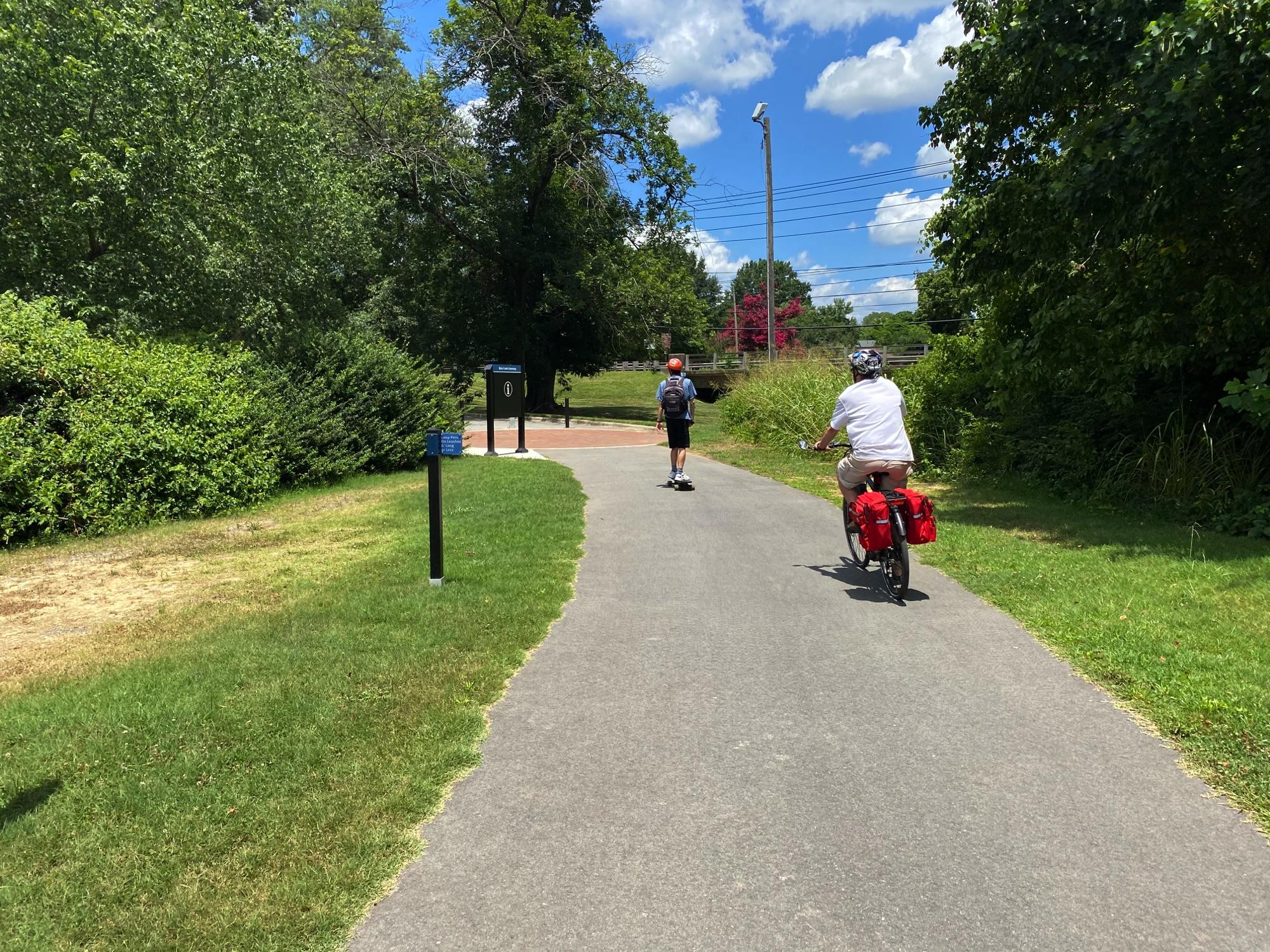 Riding Briar Creek Greenway, Charlotte NC