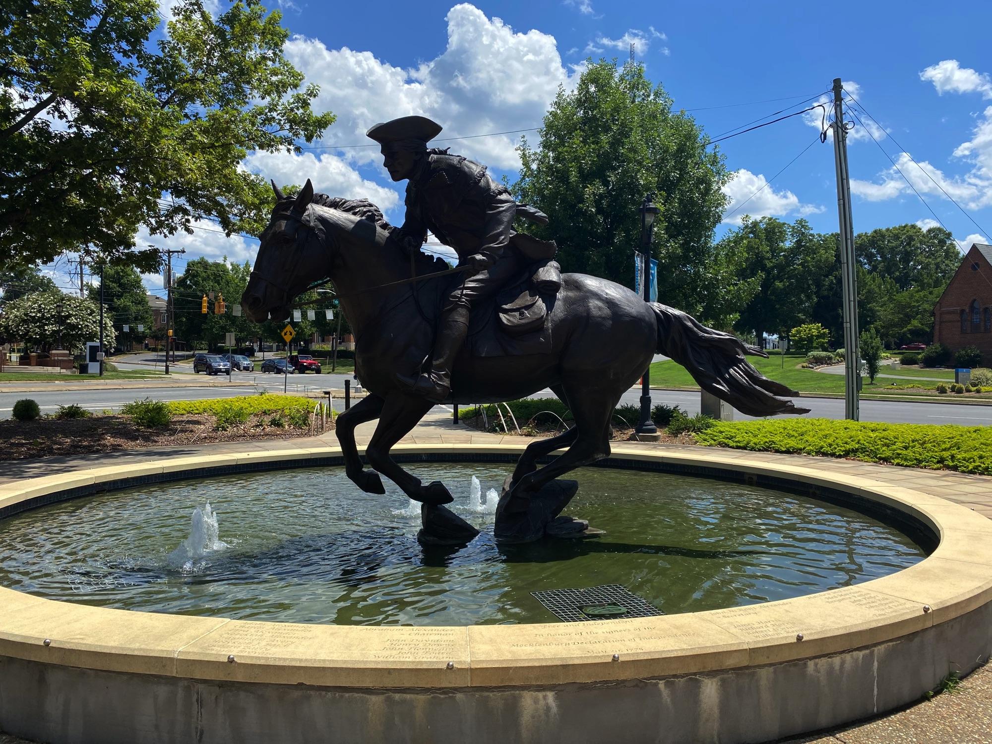 Heading through Elizabeth Park, Charlotte NC
