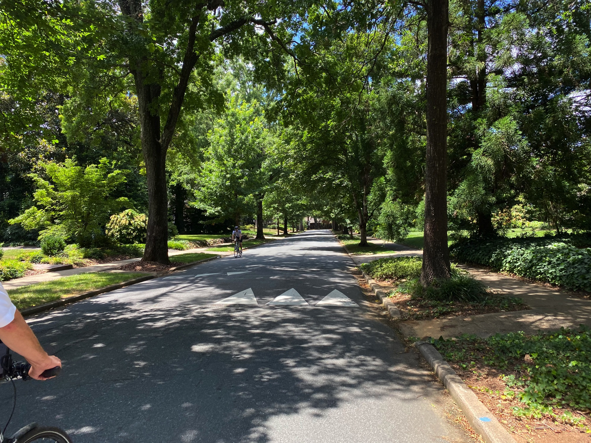 Riding through Myers Park, Charlotte NC