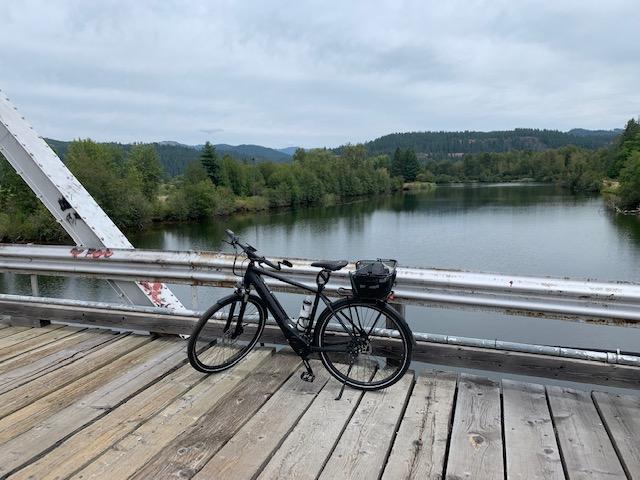Bike Bridge on Lake Coeur D Alene, eBike, BULLS Lacuba