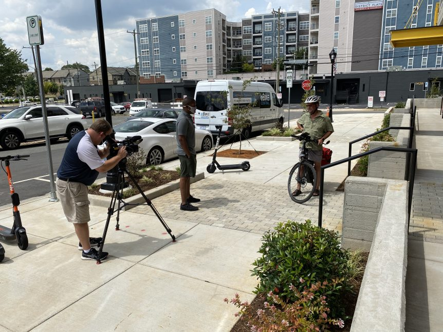 WBTV of Charlotte NC interviews eBike Central