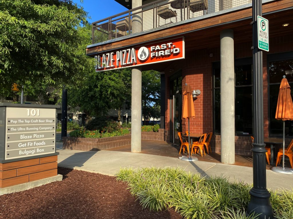 Blaze Fast Fire'd Pizza, South end, Charlotte NC