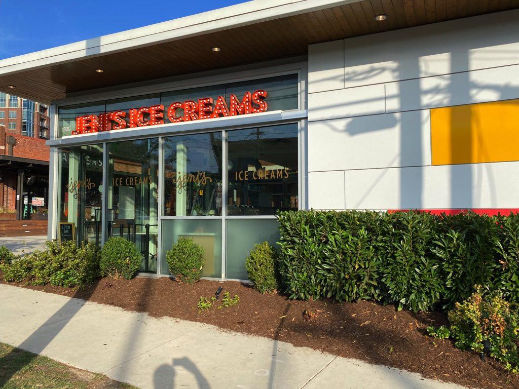 Jeni's Splendid Ice Creams, South end, Charlotte NC