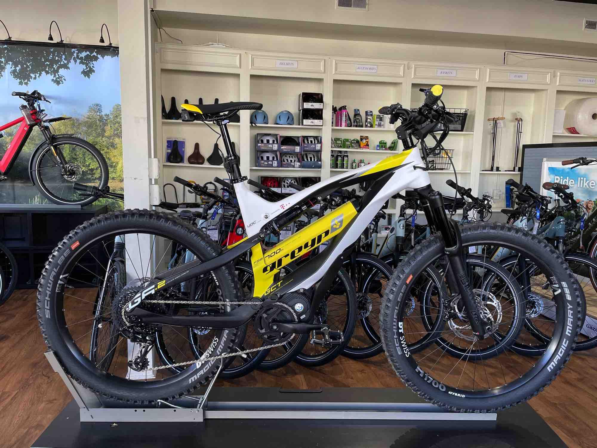 Greyp electric mountain bike, Greensboro NC, Charlotte NC